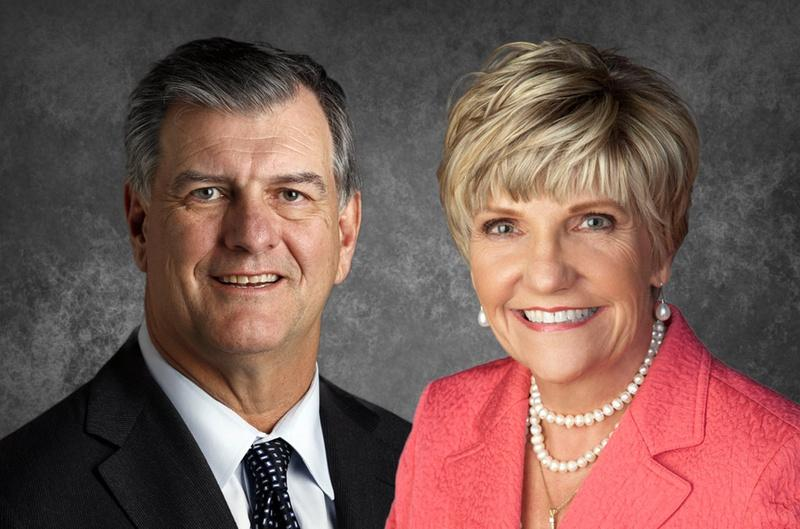 Dallas Mayor Mike Rawlings and Fort Worth Mayor Betsy Price.