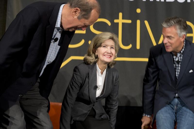 Former U.S. Sen Kay Bailey Hutchison at keynote panel on politics Sept. 20, 2014 at TribFest.