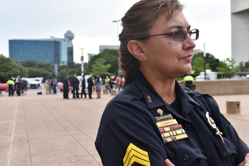 "Sgt. Leticia Corral has been with the Dallas Police Department 33 years.  ""It's been sad. I'll just leave it at that,"" she says about  what this past year has been like for her."