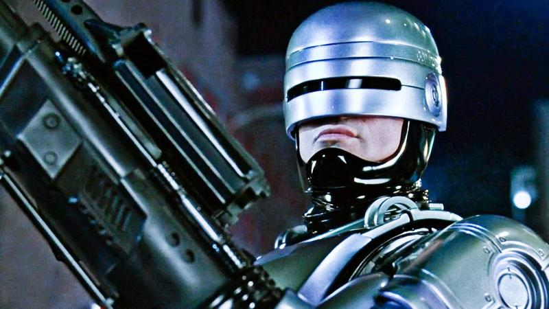 "Peter Weller stars as ""RoboCop"" in the 1987 sci-fi action film."
