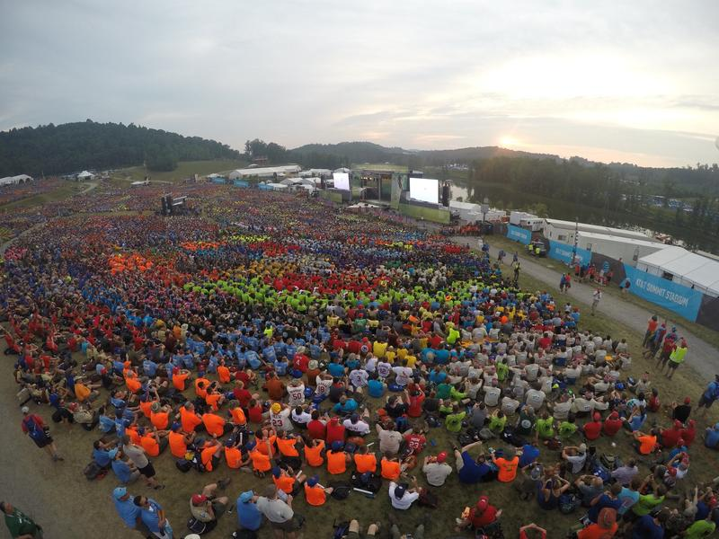 An overhead view of this year's Boy Scouts' national jamboree in West Virginia.