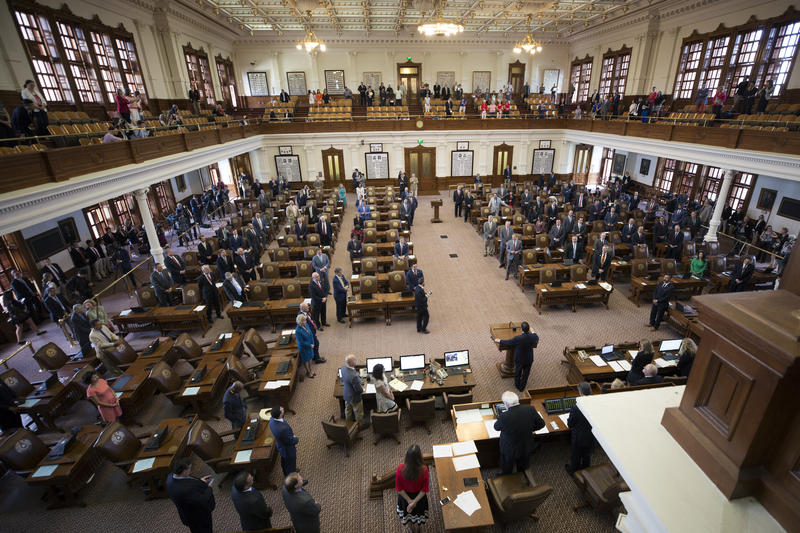 The first day of the special session at the State Capitol.