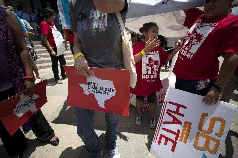 Hundreds of protesters attended a rally on the south steps of the Texas Capitol on the first day of the special session. The rally was organized by One Texas Resistance, a coalition of 16 advocacy organizations in Texas.