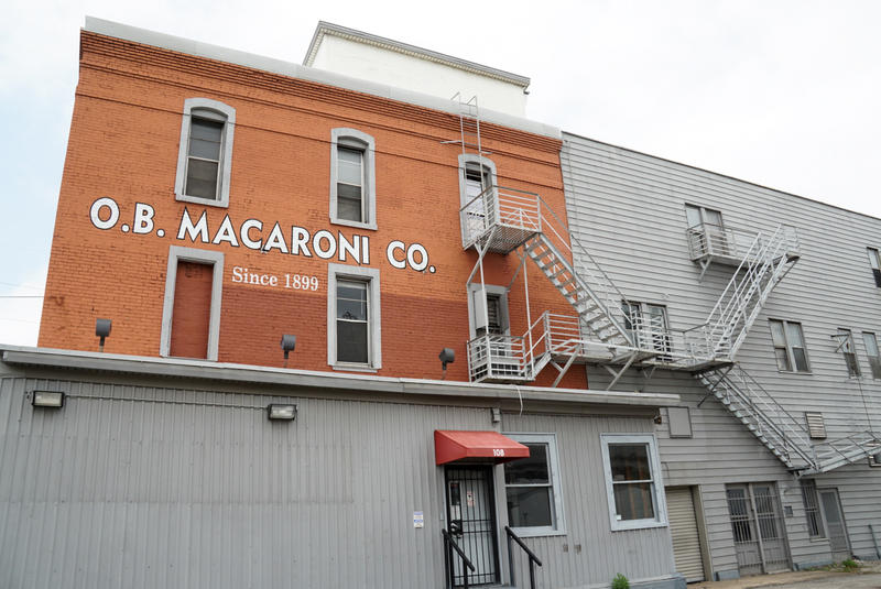 The O.B. Macaroni building was originally a stage coach hotel when it was built in the 1860s.