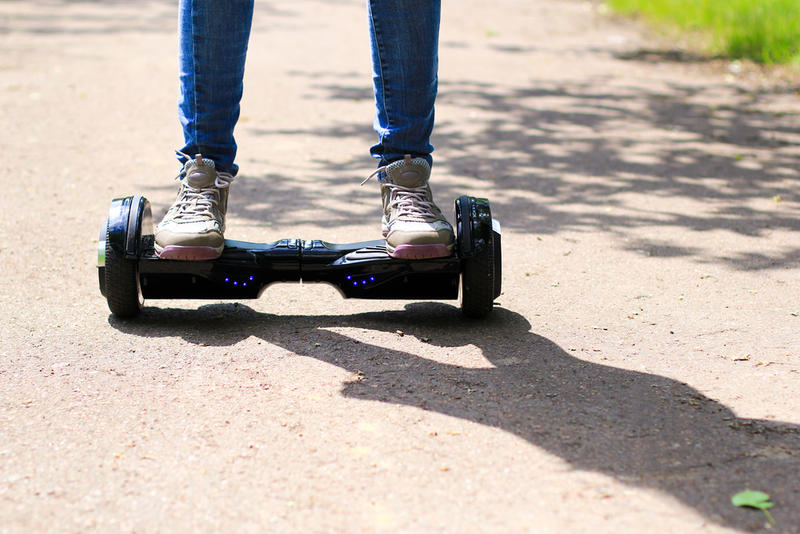 Hoverboards don't really hover, but the term is used to describe scooters such as these.