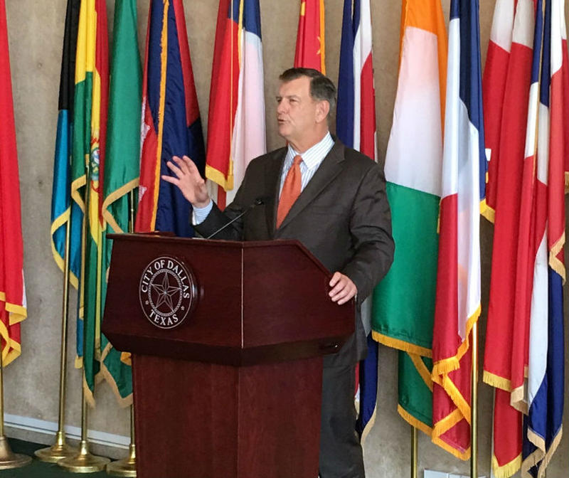 """Education is this key to the future of our city,"" Dallas Mayor Mike Rawlings said."