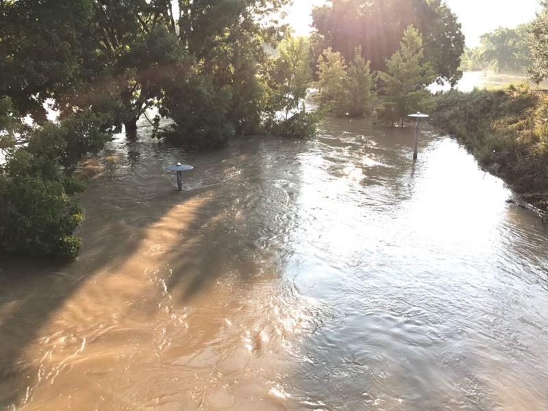 Buffalo Bayou Park, near downtown Houston.