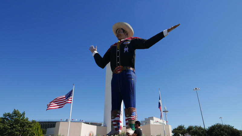 Big Tex greets fairgoers in October 2016 in Fair Park in Dallas.