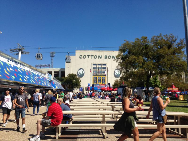 State Fair of Texas attendees outside the Cotton Bowl stadium on opening day on Sept. 30, 2016.