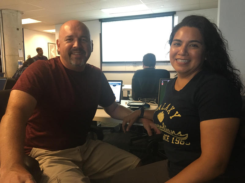 James Lawrence and his wife Ellie at the Dallas Coding Dojo workshop.