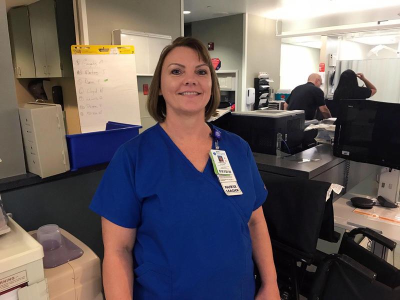 Kristen Benjamin is an associate chief nursing officer at St. Joseph Medical Center in downtown Houston.