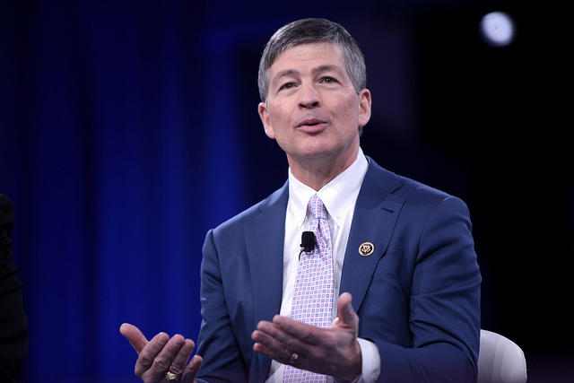 Dallas Congressman Jeb Hensarling speaking at the 2016 Conservative Political Action Conference (CPAC) in National Harbor, Md.