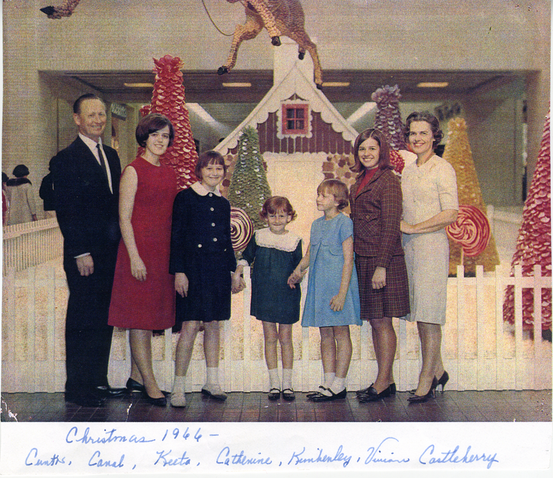 A Castleberry family Christmas photo from 1966.