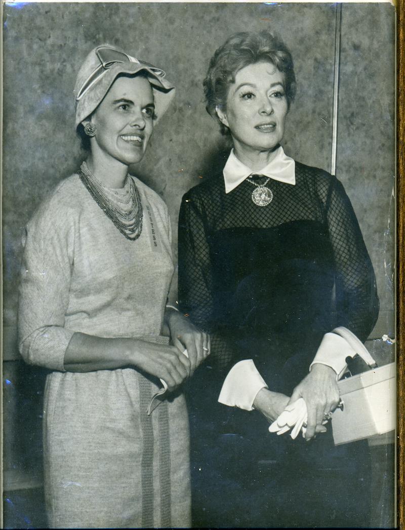 Castleberry with movie star Greer Garson.