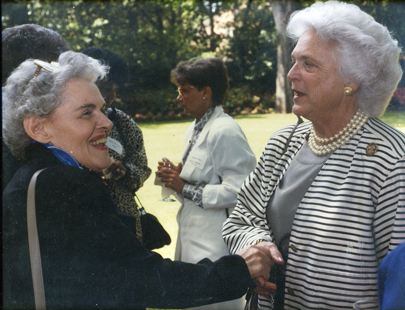 Castleberry with former First Lady Barbara Bush.