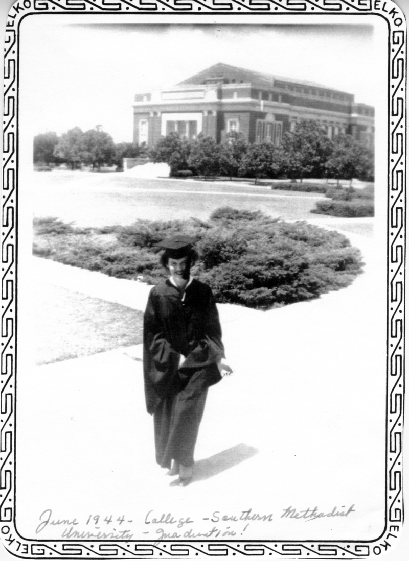 Castleberry graduated from SMU in 1944 with a degree in journalism.