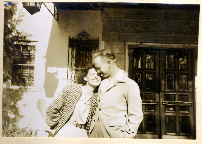 VIvian Anderson married Curt Castleberry in 1946. They had known each other since junior high. Her husband died in 2013 at age 91. Here they're pictured on their honeymoon.