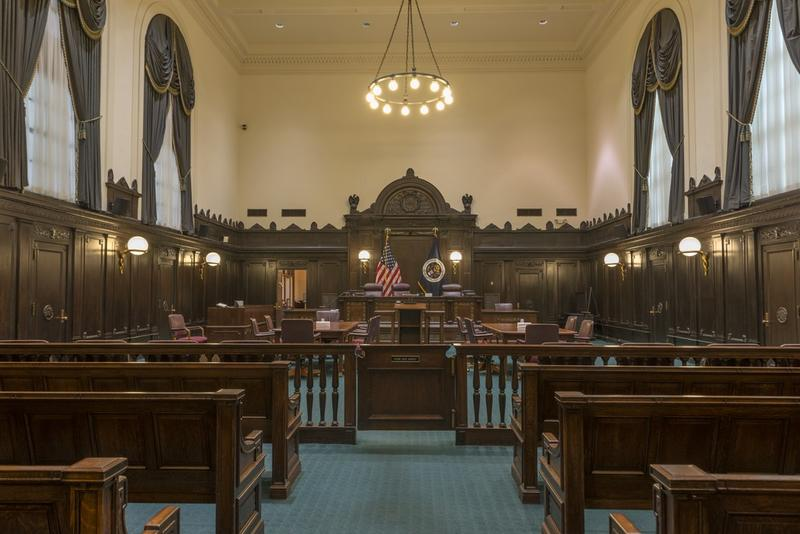 The courtroom in the John Minor Wisdom U.S. Court of Appeals Building, located in New Orleans, La., is where the Fifth Circuit hears cases.