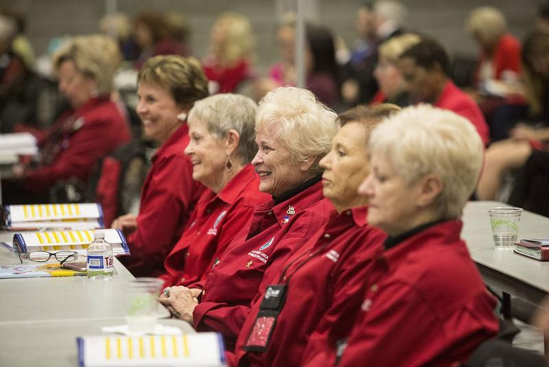 Attendees listen to speakers at the Texas Federation of Republican Women Convention in Dallas, Texas, on Oct. 20, 2017.