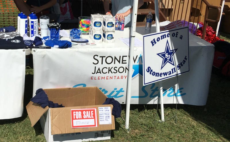 Stonewall Jackson Elementary held its Carnival, a fundraising event, last weekend. Items will have a new name next year.