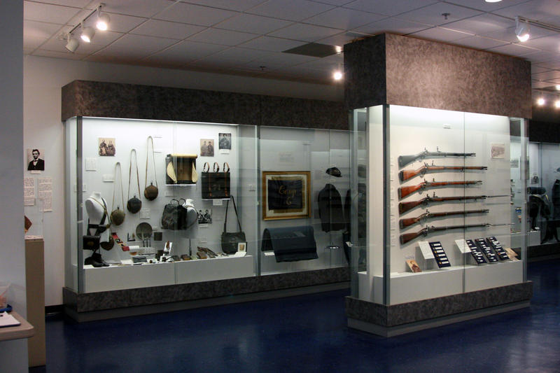 The museum tries to display an even number of Confederate and Union items.