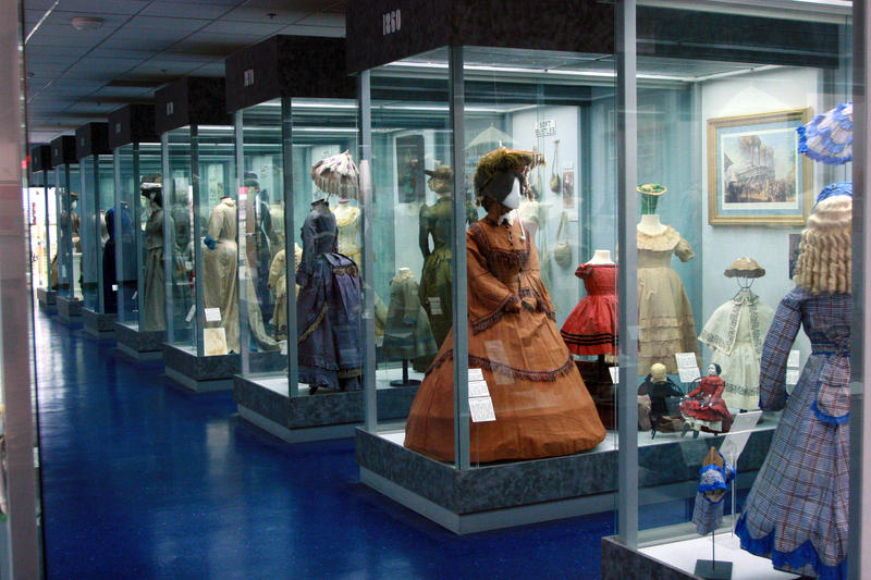The museum has a collection of dresses worn by women in the North and South.