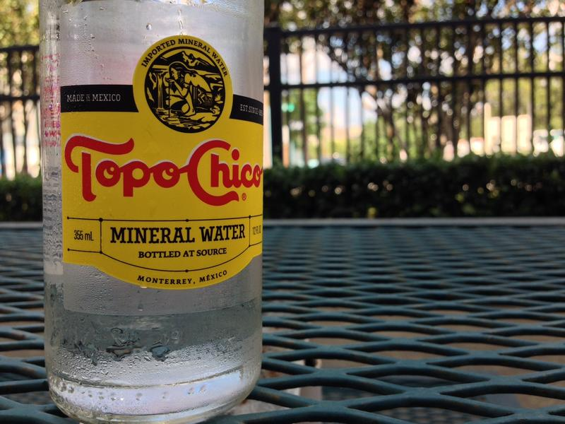 Topo Chico is a popular sparkling mineral water among Texans and has been bottled in Mexico since 1895.