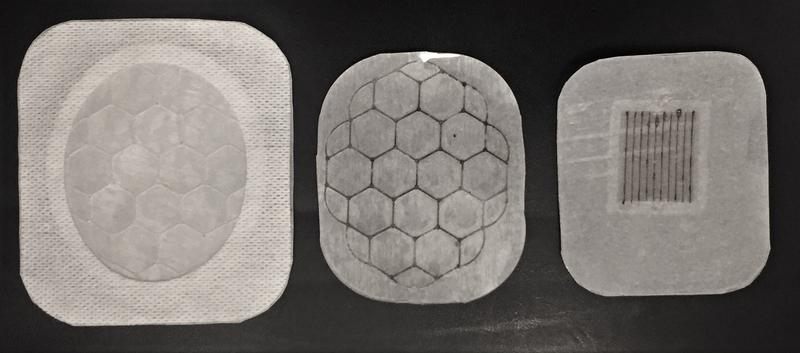 These prototypes of oxygen-based bandages, created by the startup MedNoxa, are the result of collaboration among engineers, doctors and university researchers.