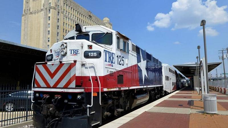 A high-speed rail between Dallas and Fort Worth might run along the Trinity Railway Express corridor.