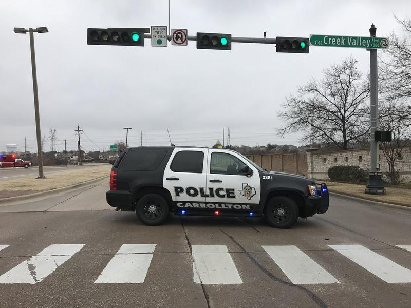 Carrollton police closed several roads on Sunday due to the wintry weather.