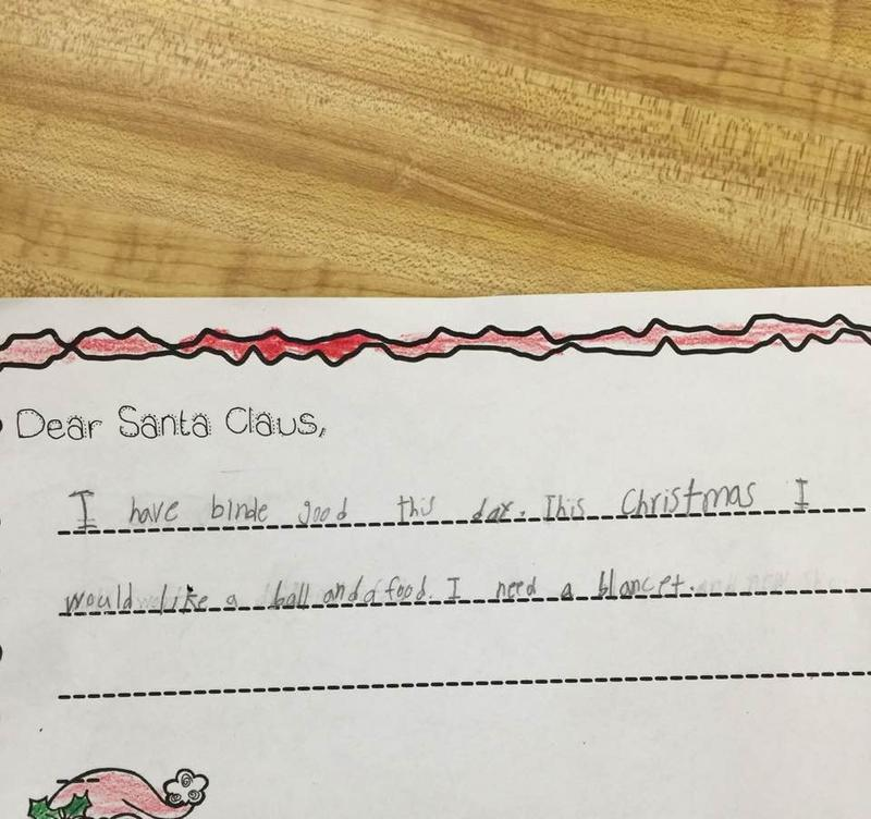 Ruth Espiricueta shared this letter from her first-grade student last week. Since then, there's been an outpouring of donations for the students at the South Texas school.