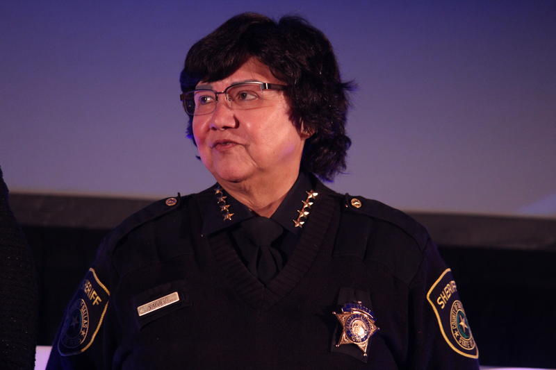 Lupe Valdez attends the Annie's List luncheon in Dallas on Nov. 10.
