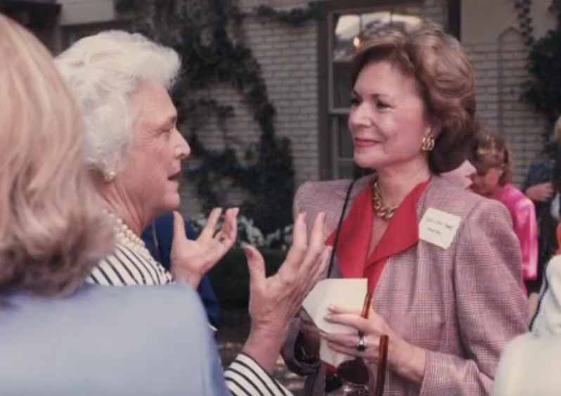 Ruth Altshuler, at right, with Barbara Bush, in an undated photo. Altshuler, a prominent Dallas philanthropist, helped raise money for several North Texas organizations.