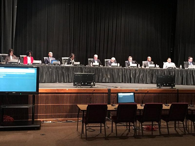 The Dallas school board met for a public hearing Thursday night at Lincoln High School.