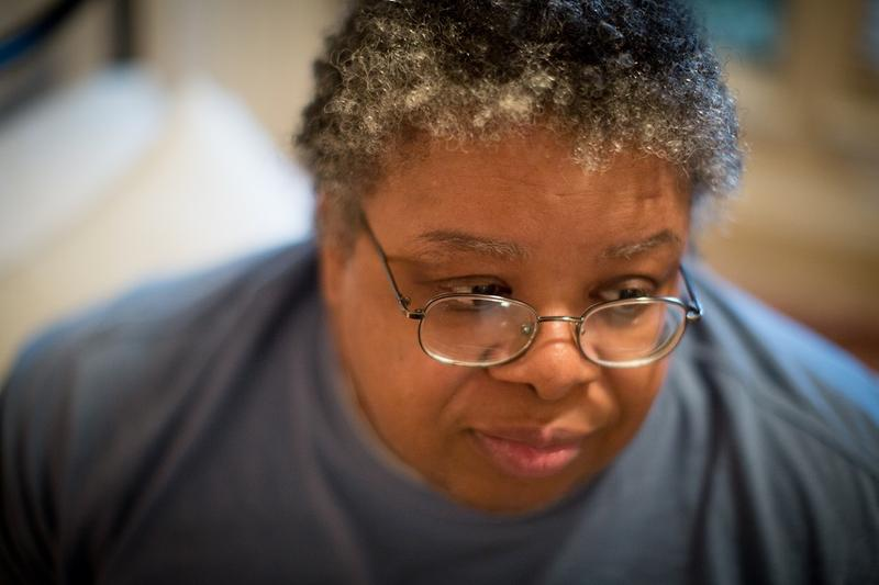 Felicia Rush was pulled from her Beaumont apartment after Hurricane Harvey and sent to the mega shelter in downtown Dallas. After a few nights there and three months in a nursing home, she's moved into a group home in Glenn Heights.