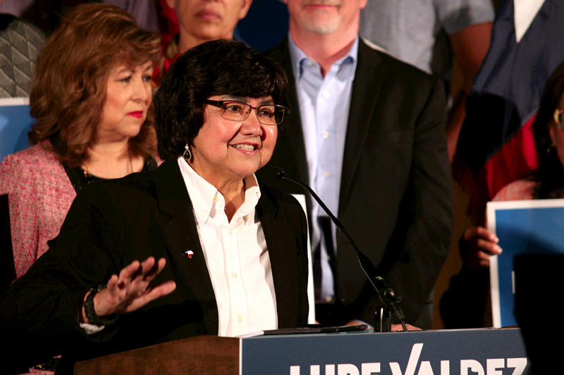 "Lupe Valdez took aim at Republicans, saying Texas Republican leaders are ""destroying the Texas brand."""