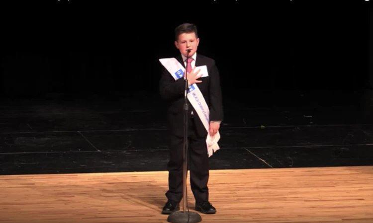 Wesley Stoker won the 2018 Gardere Martin Luther King Junior Oratory Competition.