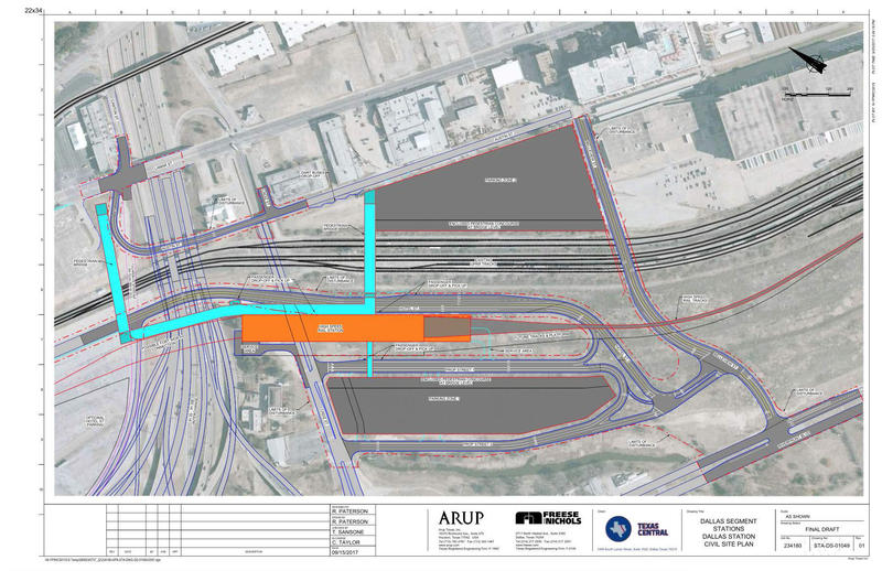 Texas Central Partners, the private company developing the project, says it plans to build the Dallas terminal on a 60-acre plot south of the Kay Bailey Hutchinson Convention Center.