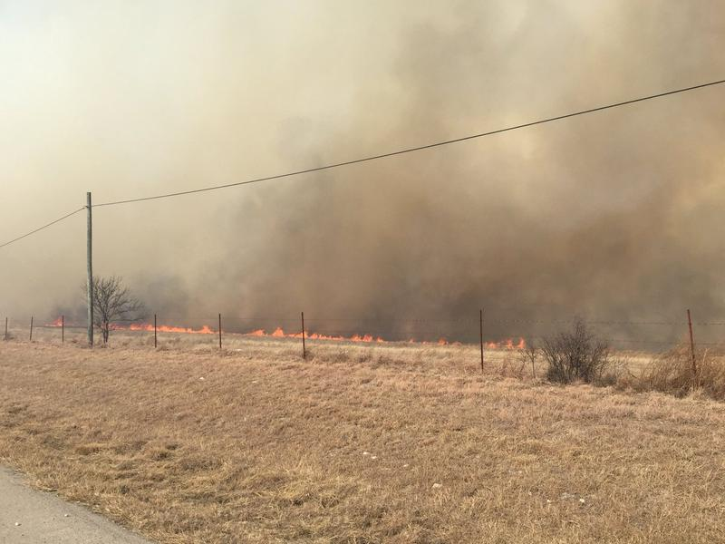 Fort Worth Fire Department helped contain a wildfire near Interstate 20 and Walsh Ranch in Aledo.