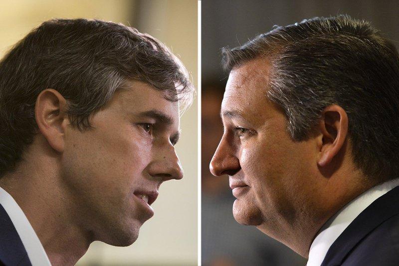 U.S. Rep. Beto O'Rourke, D-El Paso (left), and U.S. Sen. Ted Cruz.