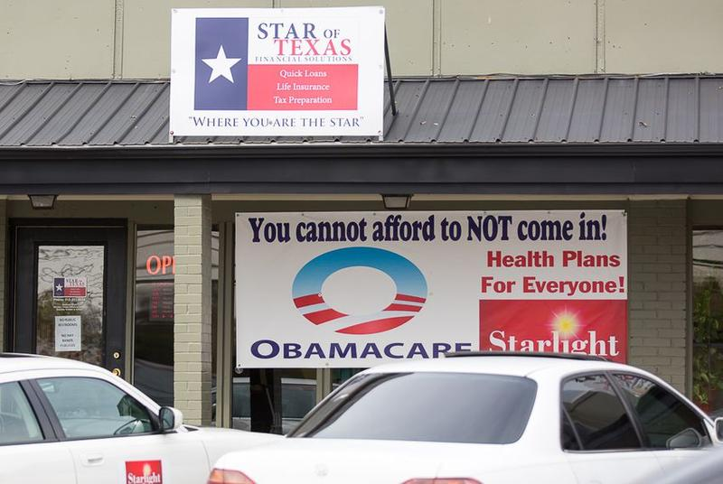 Obamacare sign up in east Austin on Dec. 1, 2015.