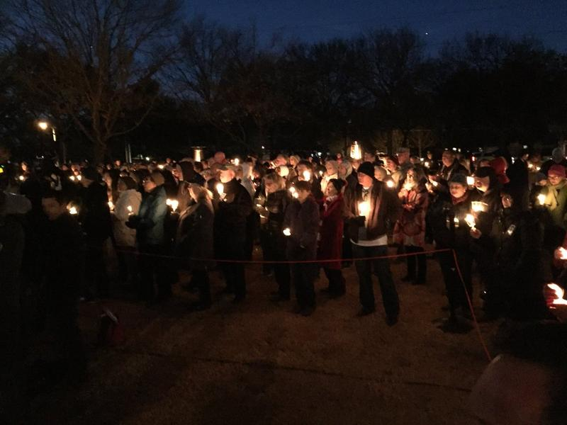 Many gathered Sunday for a candelight vigil honoring David Sherrard, who was the first officer to be killed on duty in the history of the Richardson Police Department.