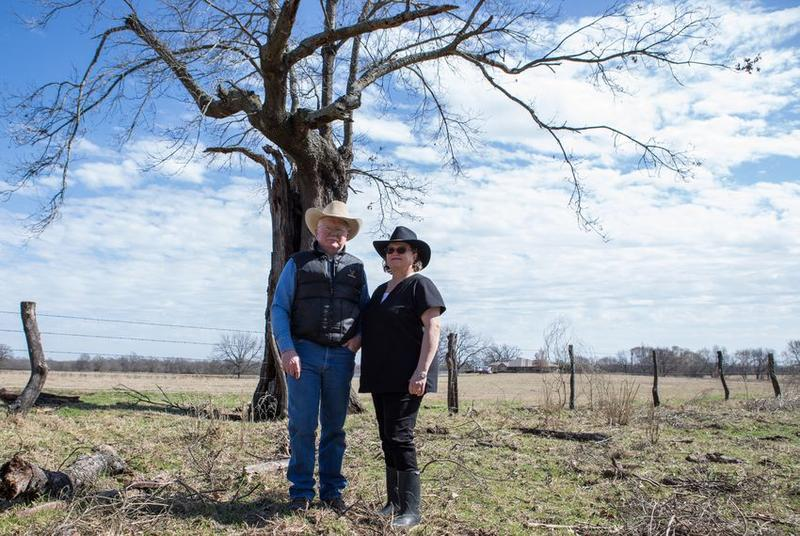 """Harold """"Thump"""" Witcher Jr., a Fannin County native, and his wife, Patty, live on 485 acres of farmland that sits in an area slated to be flooded to create the Bois d'Arc Creek Reservoir. The reservoir will provide water for parts of North Texas."""