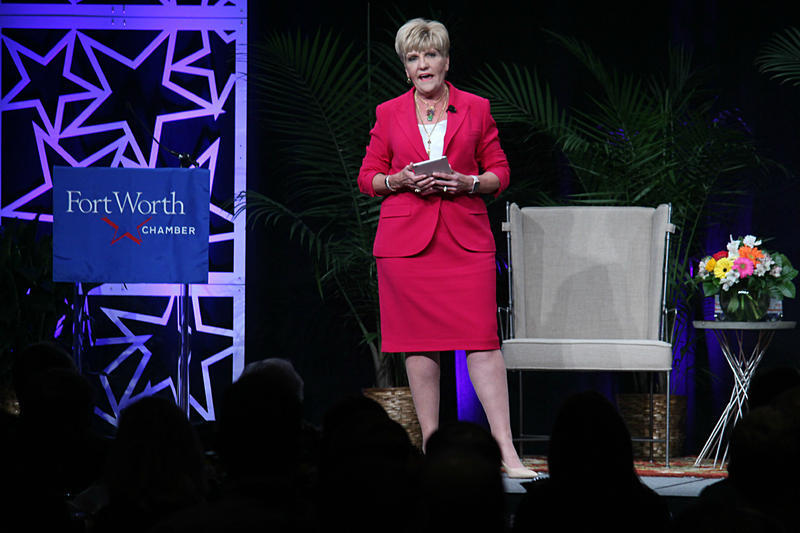 Mayor Betsy Price talked to the Fort Worth Chamber of Commerce in 2017.