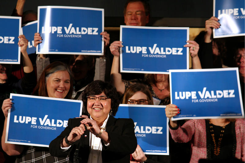 Lupe Valdez addressed supporters at her gubernatorial campaign kickoff party in Dallas in January.