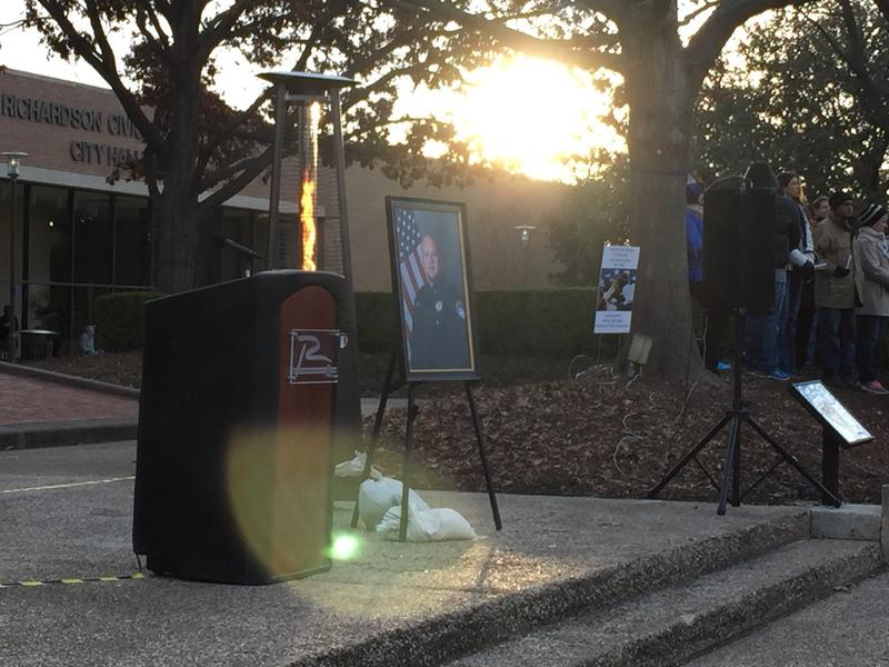 A candlelight vigil Sunday, Feb. 11 was held to honor Richardson Police Officer David Sherrard.