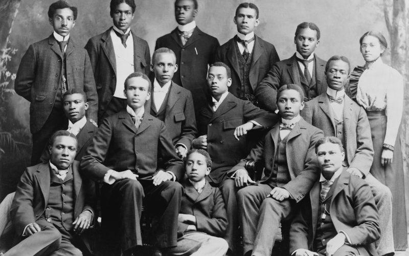 African-American students at Roger Williams University in Nashville, Tennessee, ca. 1899.