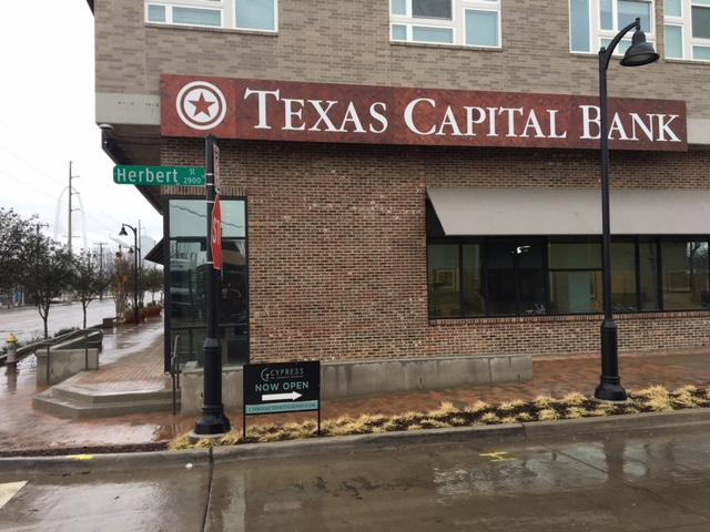The new branch of Texas Capital Bank opened Jan. 8 in West Dallas, directly across from Trinity Groves restaurants.