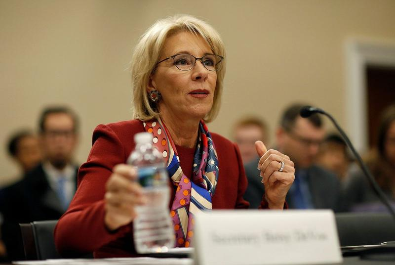 U.S. Secretary of Education Betsy DeVos testifies to the House Appropriations Labor, Health and Human Services, Education, and Related Agencies Subcommittee on the FY2019 budget request for the Department Education on Capitol Hill on March 20.