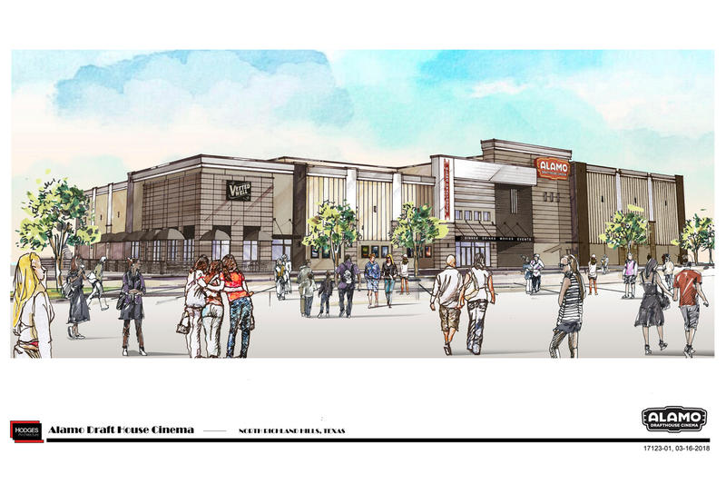 A rendering of the North Richland Hills Alamo Drafthouse, opening in April 2019.